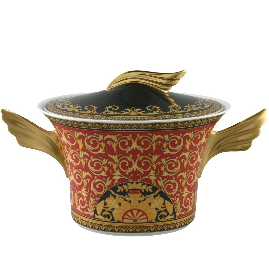 Versace Medusa Red Soup Tureen 77 ounce 19300-409605-11020