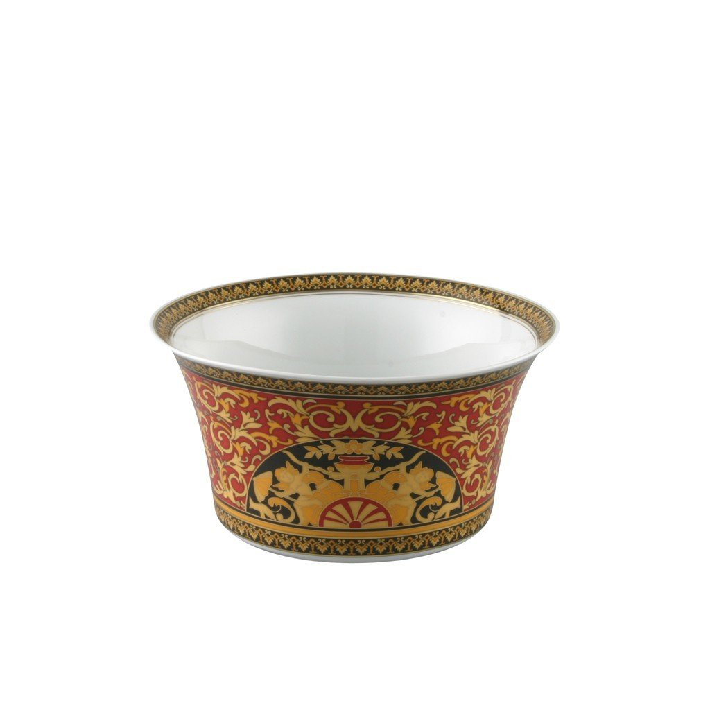 Versace Medusa Red Vegetable Bowl Open 8 inch 56 ounce 19300-409605-13120