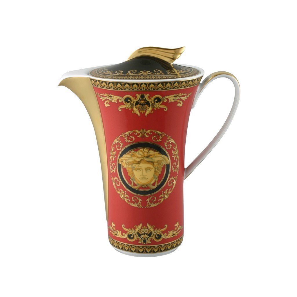 Versace Medusa Red Coffee Pot 40 ounce 19300-409605-14030
