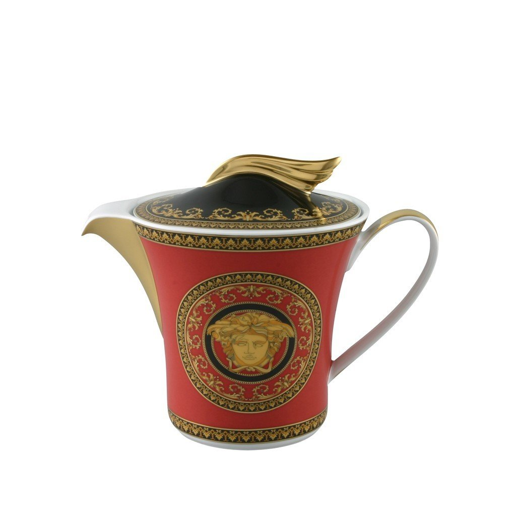 Versace Medusa Red Tea Pot 43 ounce 19300-409605-14230