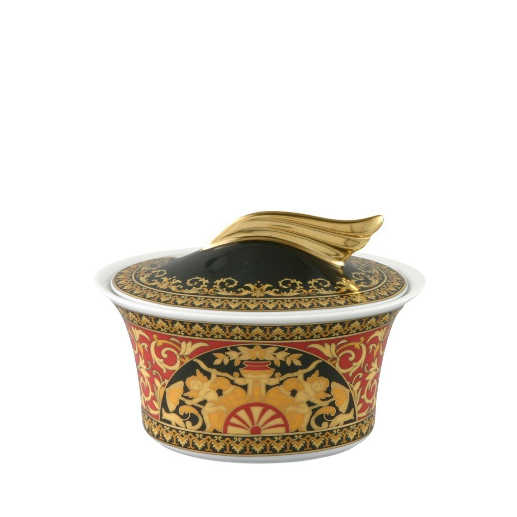 Versace Medusa Red Sugar Bowl Covered 7 ounce 19300-409605-14330