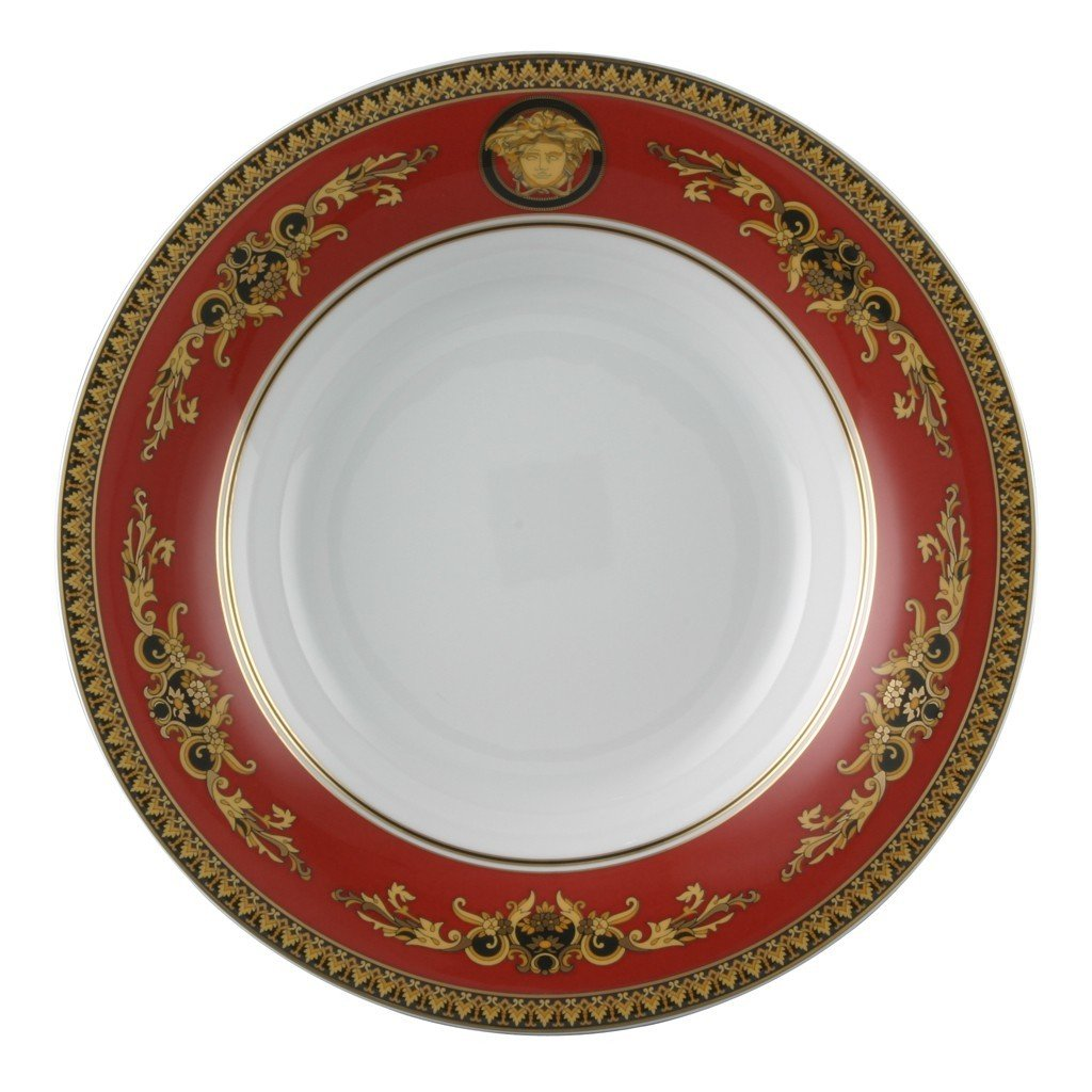 Versace Medusa Red Gourmet Plate 12.25 inch 19315-409605-10781