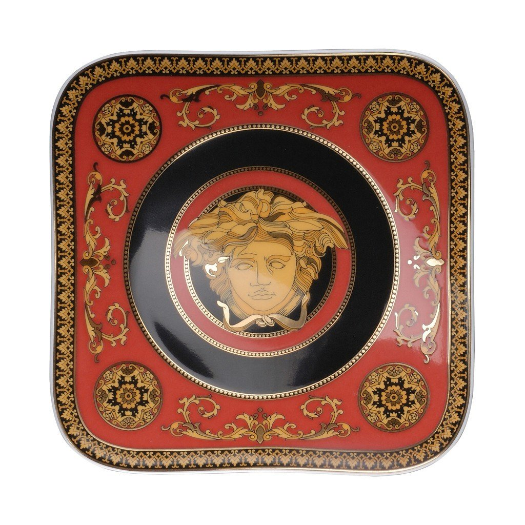Versace Medusa Red Bread & Butter Plate 5.5 inch 19750-409605-16214