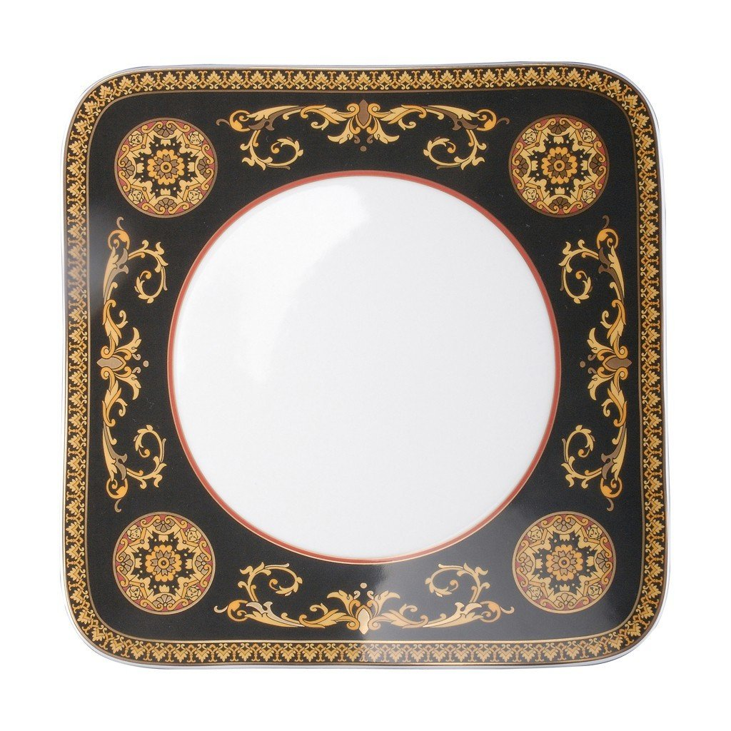 Versace Medusa Red Dinner Plate Square 10.5 inch 19750-409605-16227