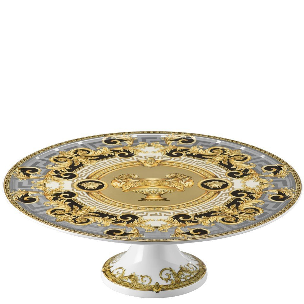 Versace Prestige Gala Footed Cake Plate 13 inch 19300-403637-12845