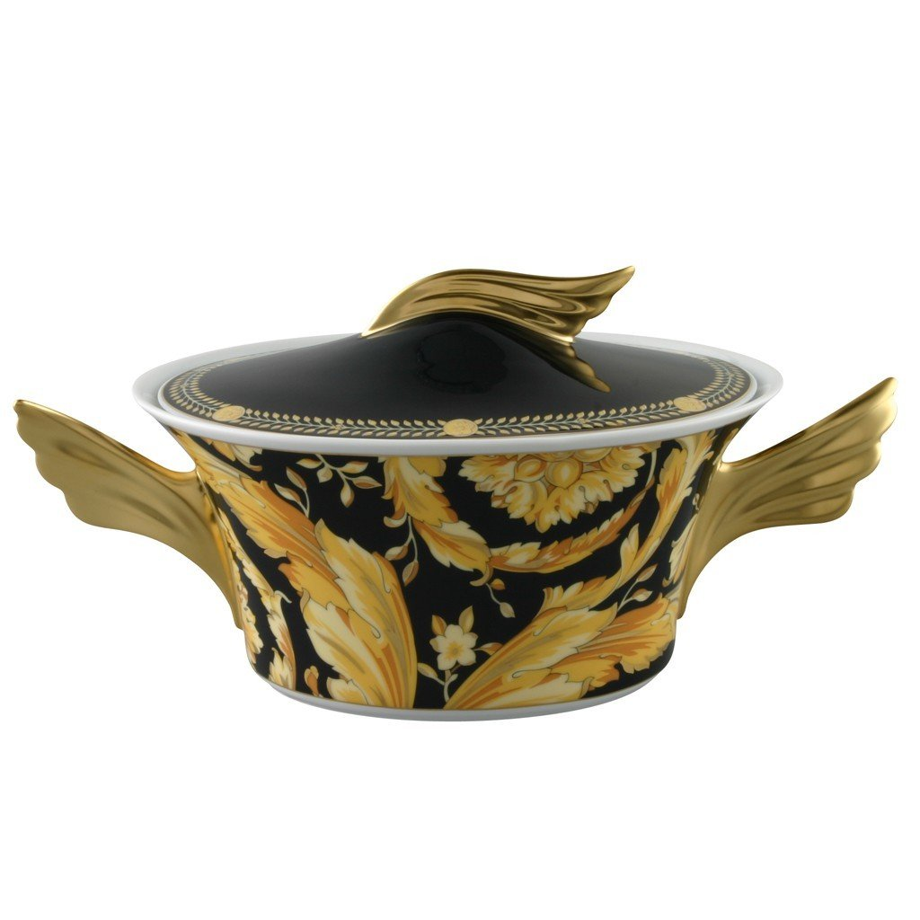 Versace Vanity Vegetable Bowl Covered 54 ounce 19300-403608-11320