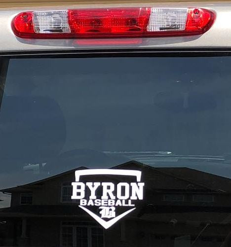"6"" x 6"" Byron Baseball Window Decal"
