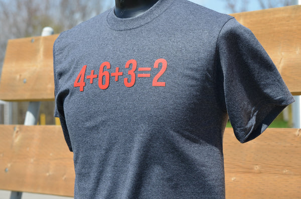 Math is hard in Baseball Tee 4+6+3=2