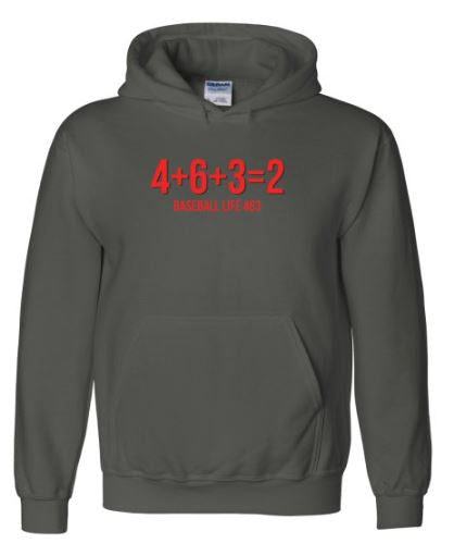 Math is Hard in Baseball Hoodie