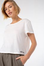 Load image into Gallery viewer, Riley Cropped Tee | White