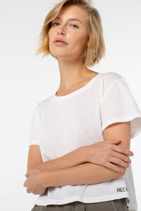 Riley Cropped Tee | White