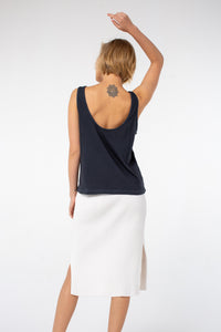 Poppy Knotted Tank | Vintage Black