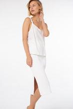 Load image into Gallery viewer, Poppy Knotted Tank | White