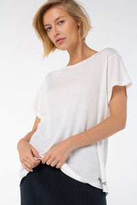 Indah Comfort Fit Tee | White