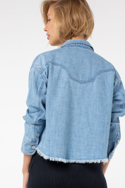 Tanya Western Denim Shirt | Denim