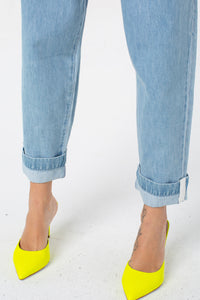 Kennedy Paperbag Waist Pant | Denim