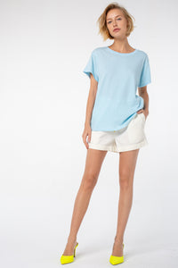 Indah Comfort Fit Tee | Dream Blue