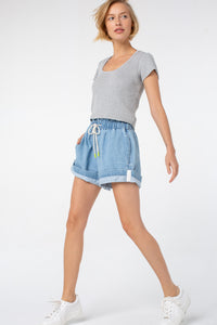Saloni Shorts | Denim