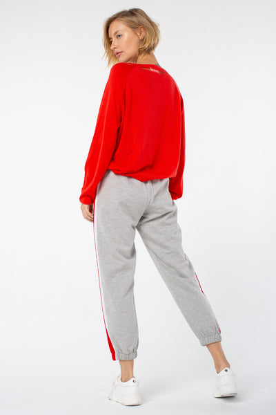 Margret Crew Neck Sweater | Poppy Red
