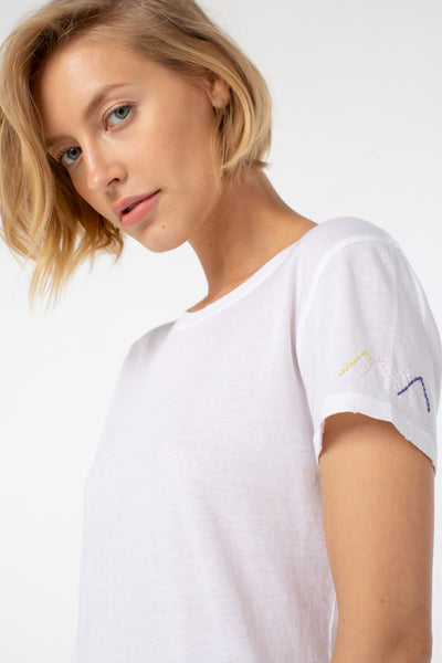 Sunny Slim Fit Tee | White