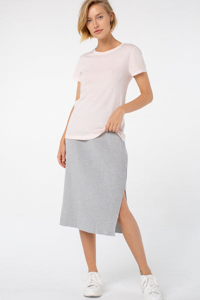 Jill Midi Skirt | Heather Gray
