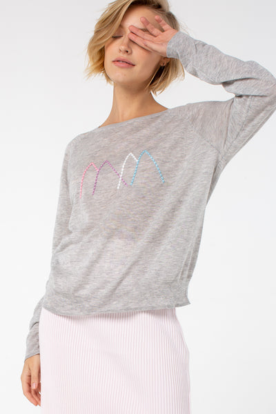 Margret Crew Neck Sweater | Heather Gray