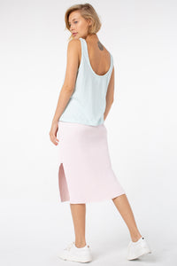 Poppy Knotted Tank | Ice Blue