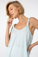 Load image into Gallery viewer, Poppy Knotted Tank | Ice Blue