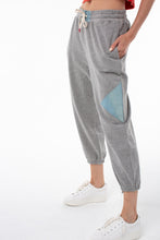 Load image into Gallery viewer, Issa Perfect Sweatpant | Heather Gray with Denim