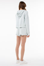 Load image into Gallery viewer, Osi Cropped Hoodie | Ice Blue