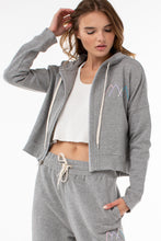 Load image into Gallery viewer, Osi Cropped Hoodie | Heather Gray