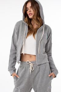 Osi Cropped Hoodie | Heather Gray