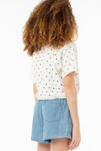Load image into Gallery viewer, Eleanor Cropped Pull Over | White