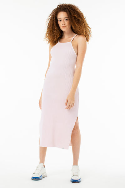 Lucille Midi Rib Dress | Rosewater