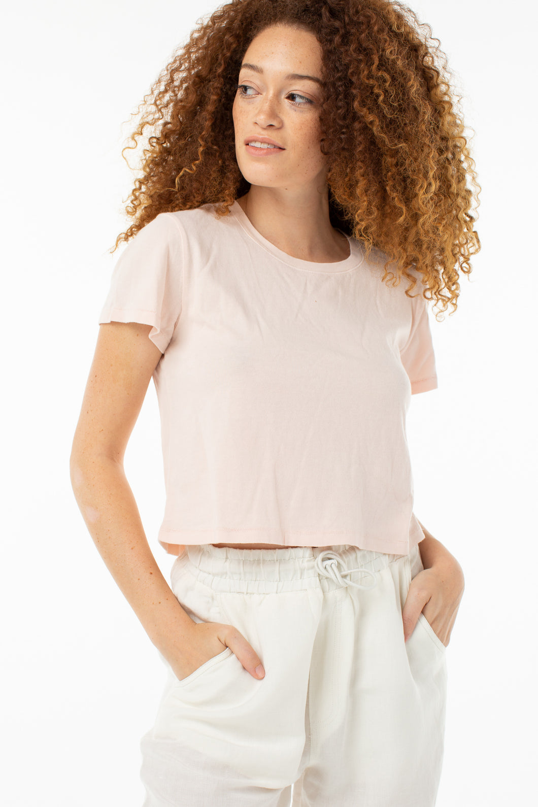 Riley Cropped Tee | Rosewater