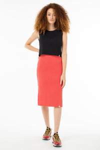 Jill Midi Skirt | Poppy Red