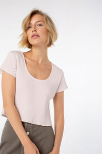 Rio Cropped Tee | Rosewater