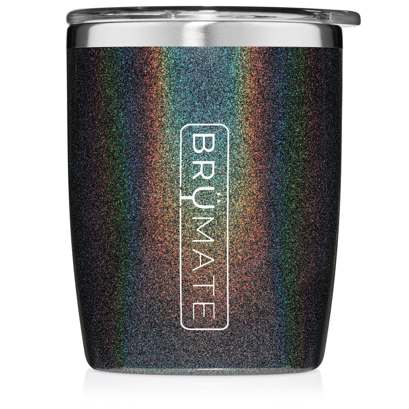 Rocks Tumbler by BruMate | Glitter Charcoal