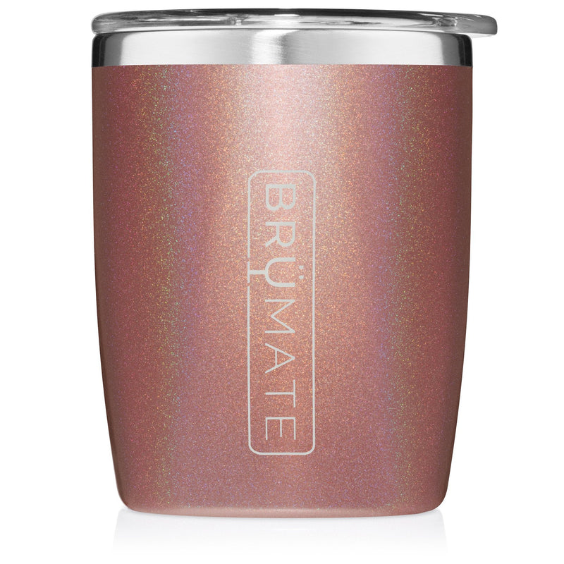 Rocks Tumbler by BruMate | Glitter Rose Gold