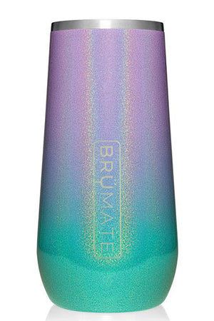 CHAMPAGNE FLUTE by BruMate | Glitter Mermaid Ombre
