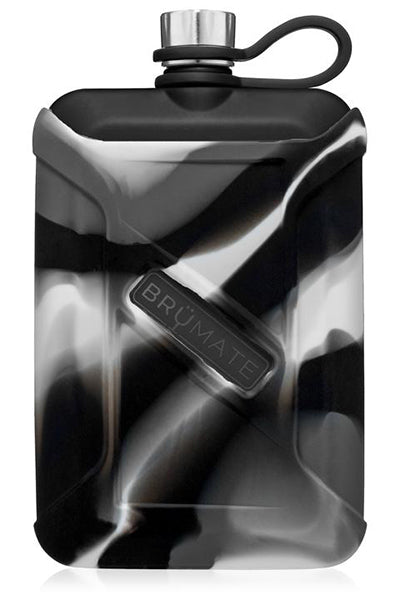 CANTEEN GREY CAMO SWIRL LIQUOR 8oz by BruMate | Matte Black