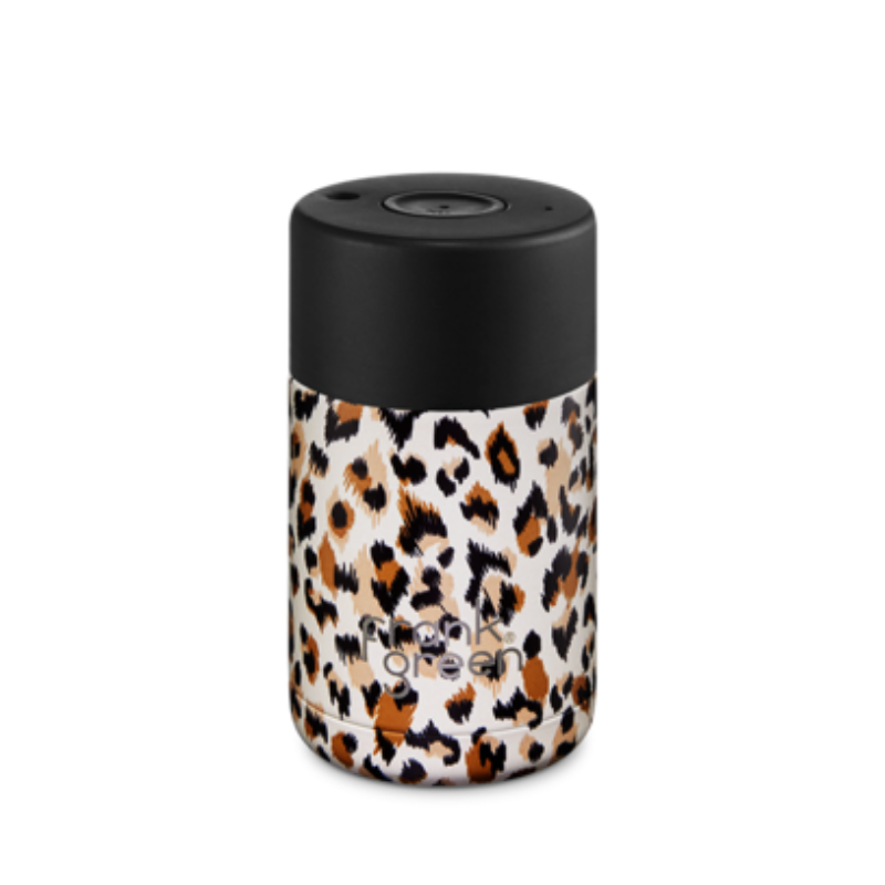 CERAMIC REUSABLE CUP 10oz | Leopard Savannah
