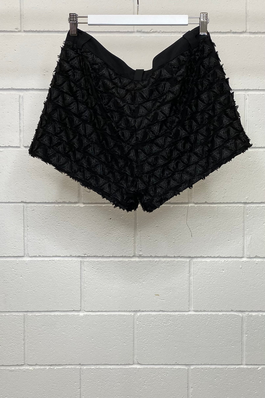 BLACK RUFFLE MINI SIZE 6 | SHORTS (Preloved)