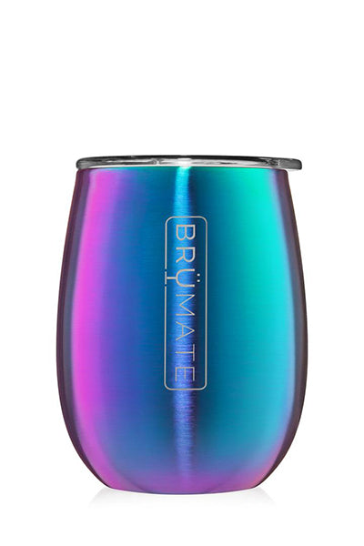 UNCORK'D WINE GLASS by BruMate | Rainbow Titanium