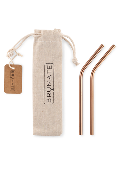 STAINLESS STEEL REUSEABLE WINE STRAWS | Rose Gold