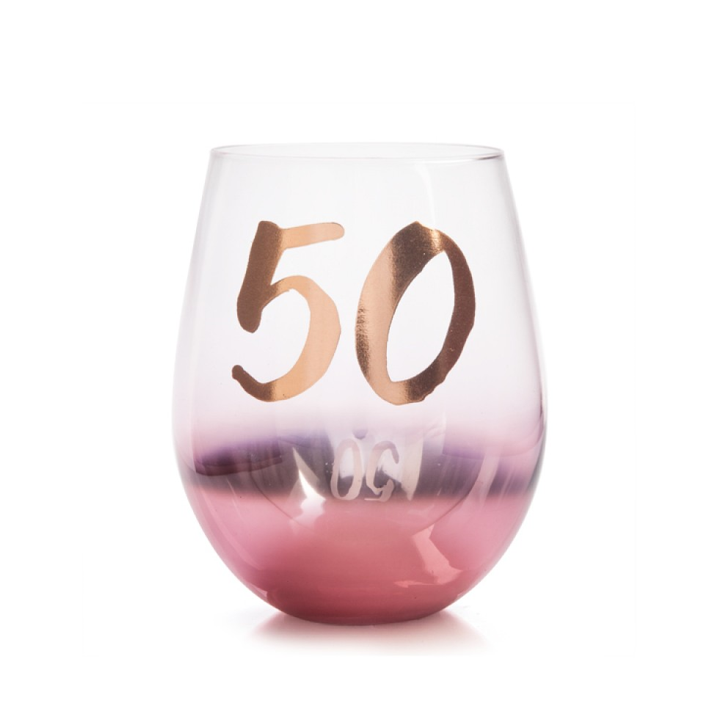 50TH BIRTHDAY STEMLESS GLASS
