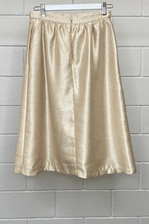 FOREVER 21 METALLIC GOLD SIZE S/8 | Skirt (Preloved)