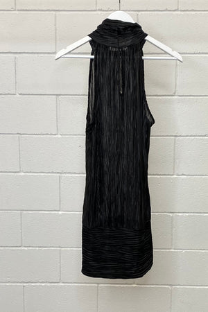 HIGH NECK BLACK SHIFT SIZE L | DRESS (Preloved)