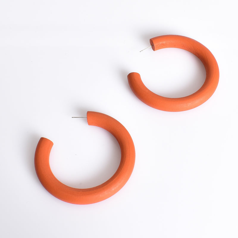 Everyday Timber Hoop Earrings