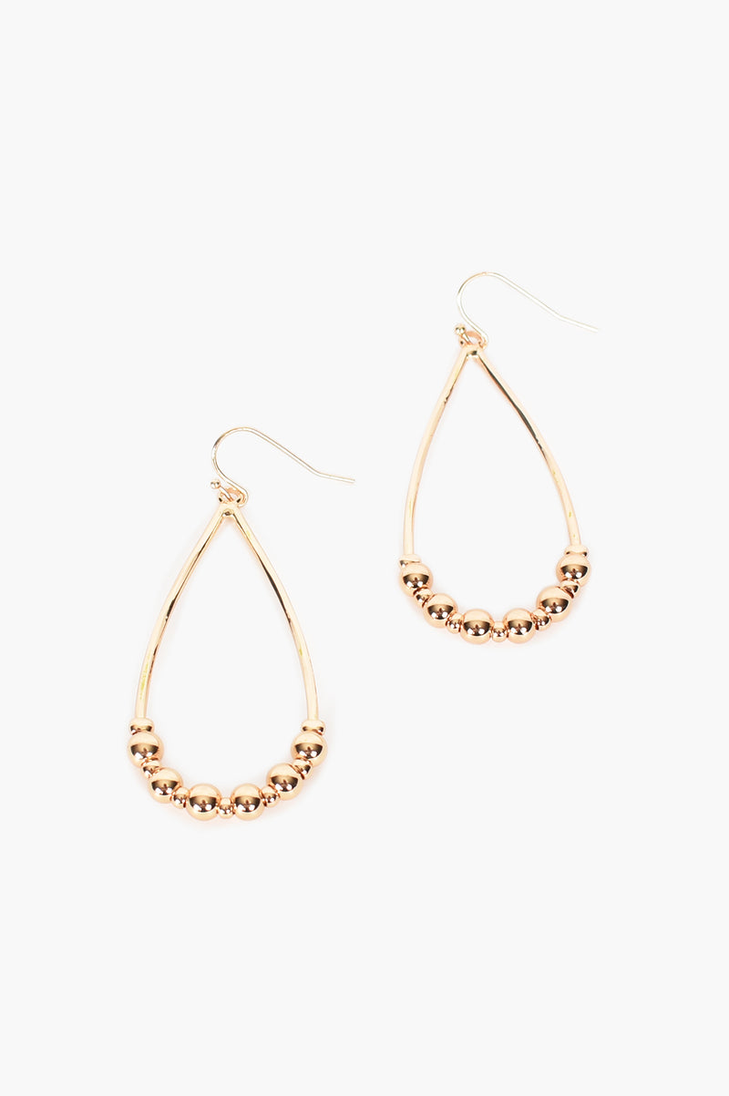 OVAL GOLD DROP HOOK | EARRINGS